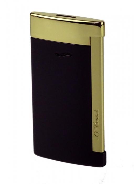 S.T. Dupont Slim 7 schwarz-gold glänzend